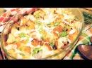 Быстрый пирог с беконом и сливочным соусом [Мужская Кулинария]