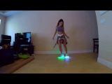 Девушка танцует шафл в светящихся кроссовках - Led Shoes Dancing Shuffle