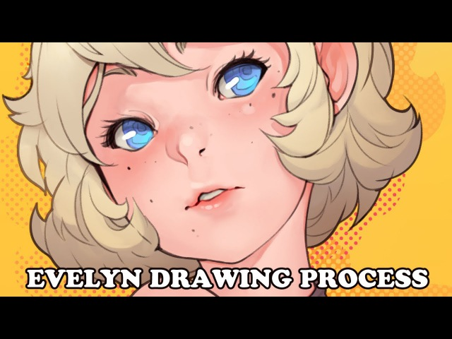 Evelyn drawing process