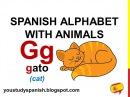 Spanish Lesson 2 - SPANISH ALPHABET with ANIMALS - ALFABETO español con ANIMALES Abecedario completo