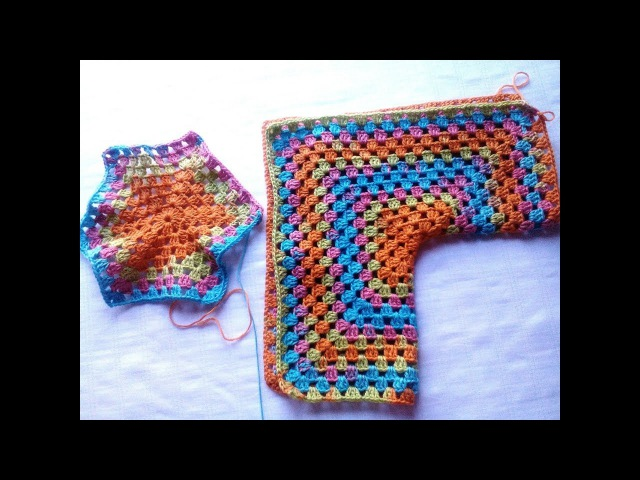 Hexágono de crochet que se convierte en chaqueta todas las tallas