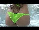Sexy sheer mini scrunch butt micro bikini