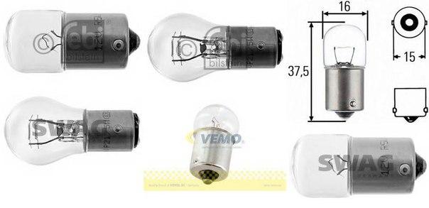 Лампа накаливания, фонарь освещения номерного знака; Лампа накаливания, задний гарабитный огонь; Лампа накаливания, стояночные огни / габаритные фонари; Лампа накаливания, габаритный огонь; Лампа накаливания, стояночный / габаритный огонь для ALFA ROMEO 75 (162B)