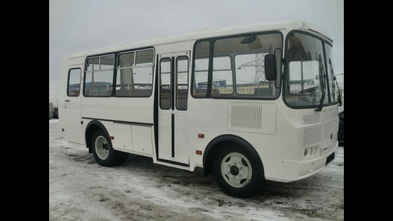 2017 ПАЗ-32053. Обзор (интерьер, экстерьер, двигатель).