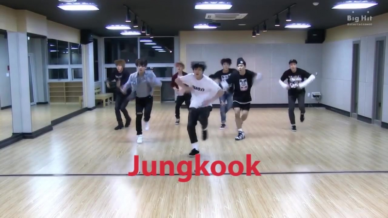 Every bts dance practice except the members are labelled