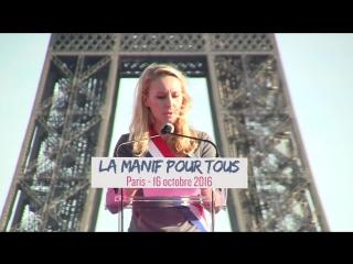 Discours de Marion Maréchal Le Pen à la Manif Pour Tous