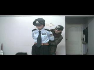 Chinese police lady bondage