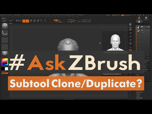 "AskZBrush: ""Is there an easy way to Clone a Subtool?"""