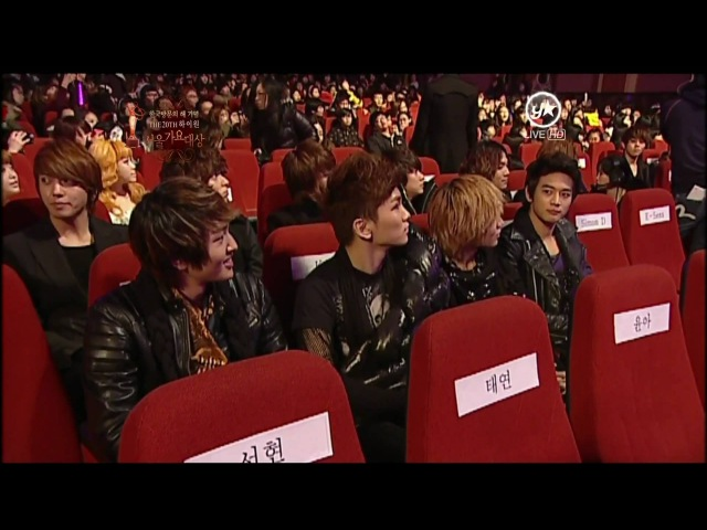 2011.01.20 SHINee - Cuts Winnings Lucifer @ Seoul Music Awards