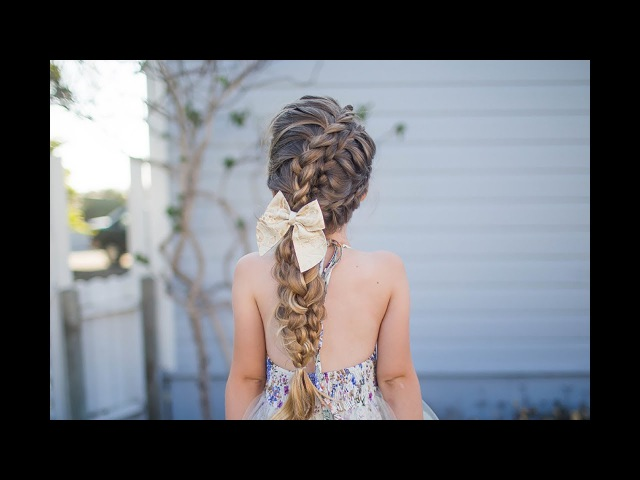 Double Lace Updo | Homecoming Hairstyle | Cute Girls Hairstyles