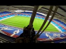 [POINT OF VIEW] Workmen abseiling at the Reebok Stadium