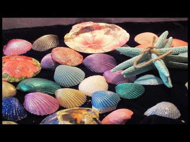 DIY 5 different ways to decorate seashells shells