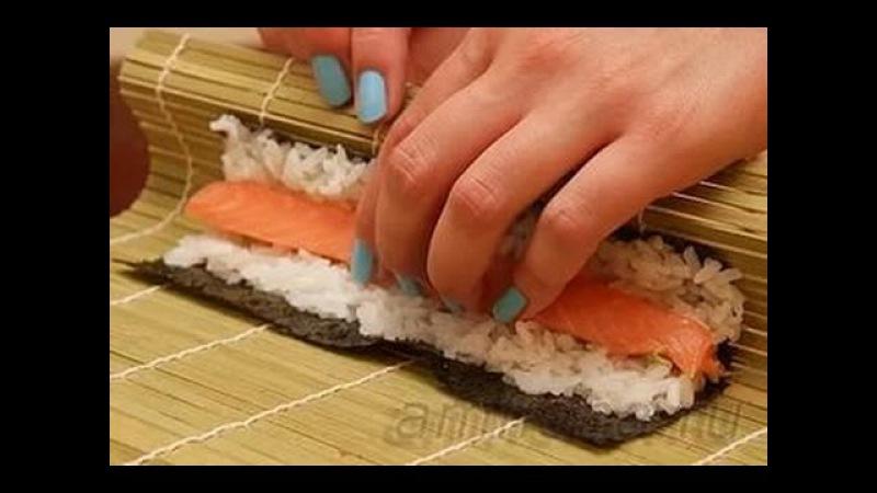 面白い!お寿司の作りでホームСАМОЕ интересное!суши делаем дома!interesting!make sushi at home