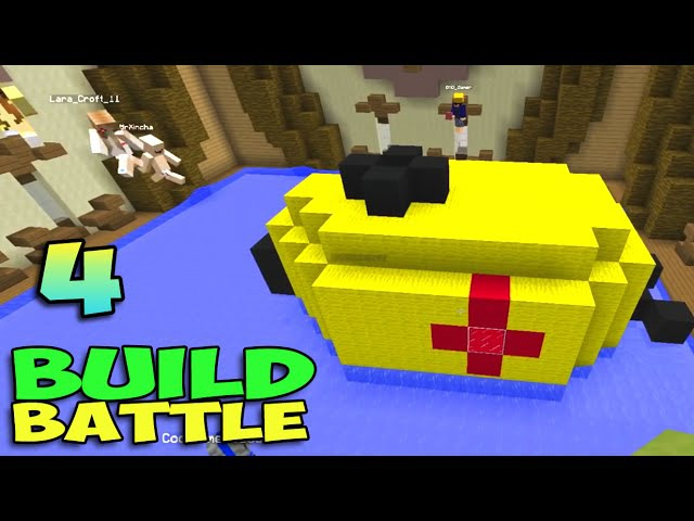 ч.04 Minecraft Build Battle - Домик на дереве, Пинг-понг и Субмарина
