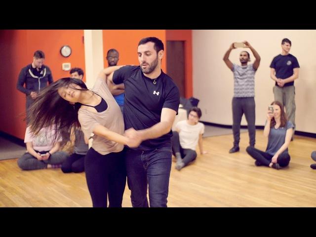 Ed Sheeran - Shape of You - Wonderful Improvised Dance! - Eddie Bonnell Emi Murata - Zouk Atlanta