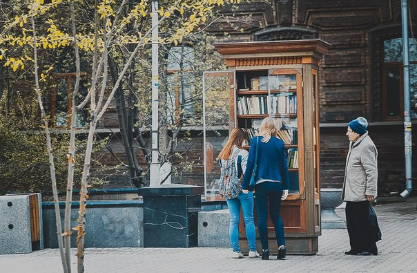 #ТипичныйКрасноярск_фото Читающий Красноярск.