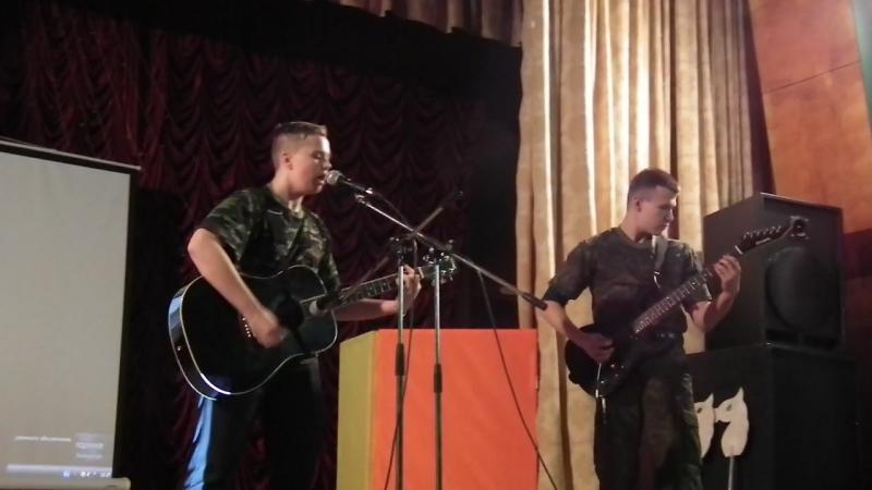 Звучит песня Стрелы на мероприятии ко Дню призывника Армейские будни
