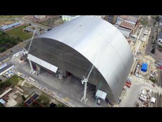 На Чернобыльской АЭС начали надвигать защитную арку