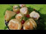 Вкуснейшие блины с сыром Филадельфия, лососем и крабовыми палочками. Супер заку ...