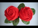 ABC TV   How To Make Rose Paper Flower From Crepe Paper - Origami Craft Tutorial