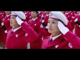 China &amp North Korea's Beautiful female soldiers in military parade HD