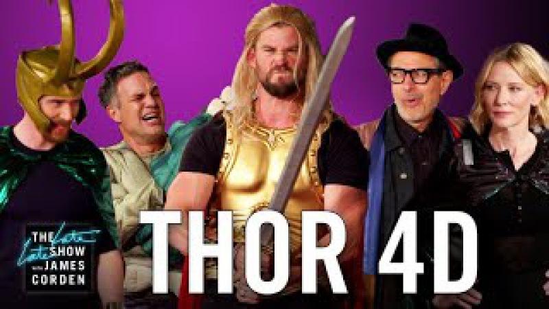 Thor Ragnarok 4D w the Thor Cast