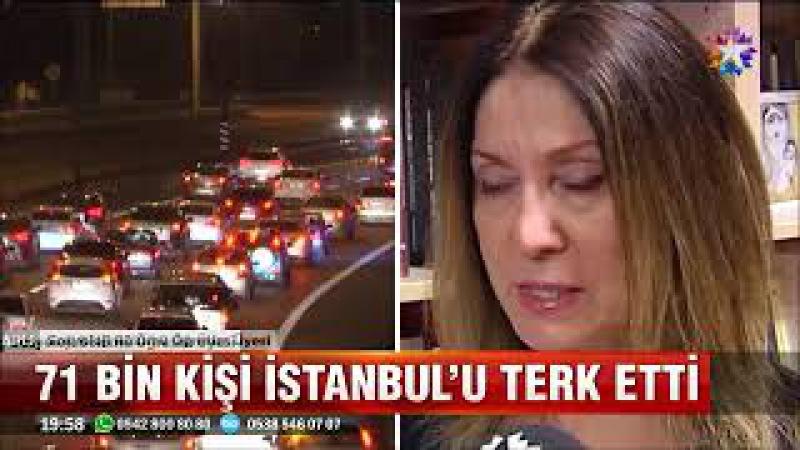 İstanbulda göç tersine dönüyor 71 bin kişi İstanbulu terk etti