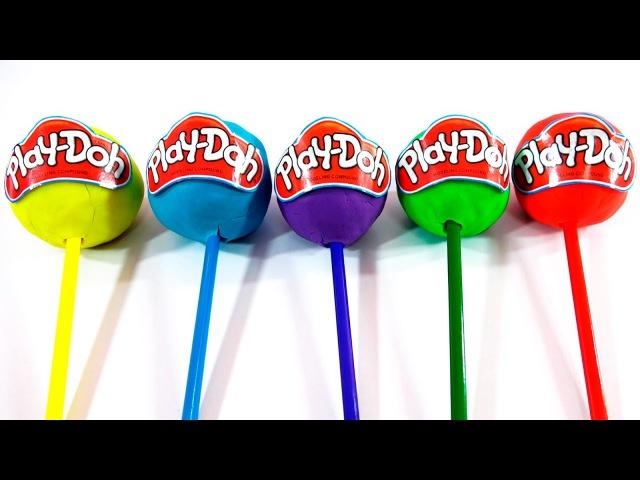 Learn Colors Kids Play-Doh Lollipops Superhero Ice Cream Surprise Eggs Finger Family Nursey Rhymes