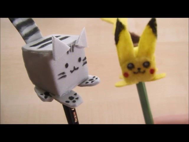 Кот Пушин и покемон Пикачу. Игрушки из фетра и фоамирана.