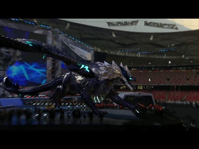 Elder Dragon crashes Worlds 2017 Grand Final Stage - Worlds 2017 Final Opening Ceremony
