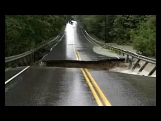 Watch how soil erosion can swallow up your road during floods