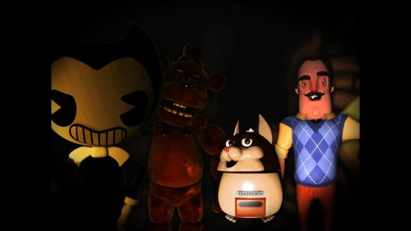 Bendy vs Freddy Fazbear vs Mama Tattletail vs Hello Neighbor JMB Rap Battle