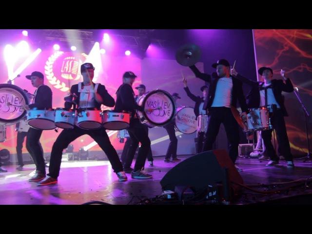 Барабанное шоу Васильев Грув с фирменным номером Vasiliev Groove. Шоу барабанщиков!