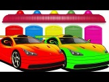Learn Colors with Cars and Numbers  FERRARI  Cars Cartoon For Kids &amp Colors for Kids