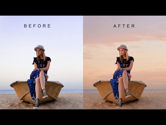 How to Change Evening Photos into Stunning in Photoshop - Simple Sky Overlay Blending Technique
