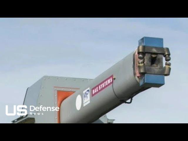 US NAVY 5600 mph RAILGUN Navy's Gigantic Electromagnetic Railgun Is Ready for Deployment