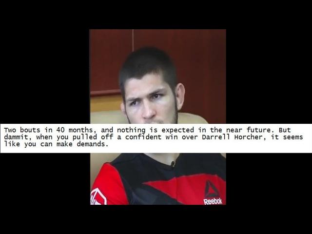 ВИДЕО: РЕАКЦИЯ ФАНАТОВ ХАБИБА НА ПОНИЖЕНИЕ В РЕЙТИНГАХ UFC! » Freewka.com - Смотреть онлайн в хорощем качестве