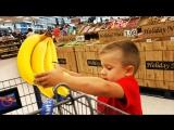 10 Минут на Челлендж в СУПЕРМАРКЕТЕ Девочки против Мальчиков Видео для Детей at The Supermarket Kids