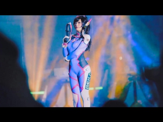 Sexy Korean Girl - D.Va - Song Hana - Overwatch - Spiral Cats - Cosplay_[азиатки, порно, эротика, as