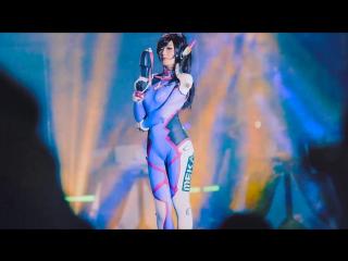 Sexy Korean Girl - D.Va - Song Hana - Overwatch - Spiral Cats - Cosplay_[азиатки, порно, эротика, as