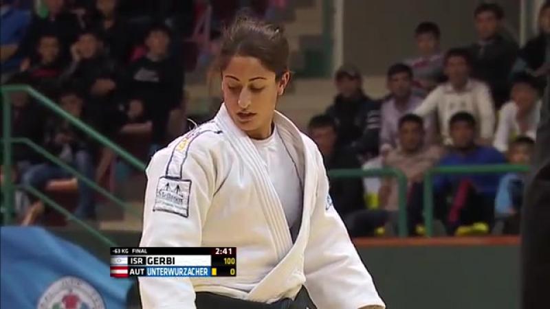 Удушающий от Ярден Герби. Yarden GERBI (ISR) - Kathrin UNTERWURZACHER (AUT) U63, Grand Prix Tashkent 2014