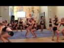 Гимнастический показательный танец Але Але Але в студии