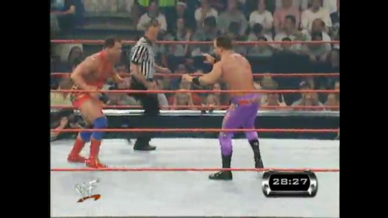 [Crossface] Chris Benoit vs. Kurt Angle - Iron Man 30 minutes - Backlash 2001