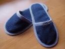 Шьем из старых джинсов тапочки. We sew from old jeans slippers