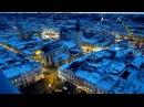 Украина Вечерний Львов Потрясающий вид Piękny widok zimą we Lwowie z najwyższej wieży miasta