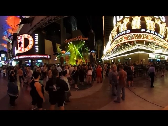 Fremont Street Experience music in Las Vegas 360 degrees video