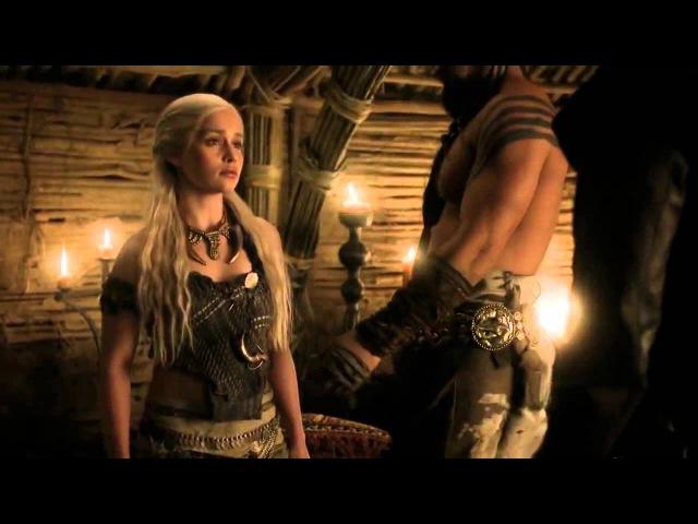 Daenerys and Khal Drogo Scene - He was no Dragon