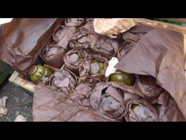 На Запоріжжі СБУ виявила схованку з 10 тисячами набоїв та 40 гранатами Ф-1