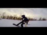По реке Обь на сноуборде