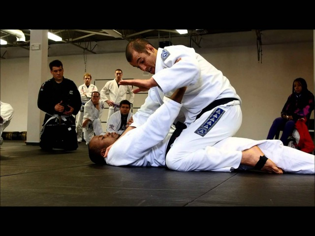 Ryron Gracie Defending the cross-choke (under mount) ryron gracie defending the cross-choke (under mount)